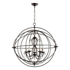 Quorum Cilia 5-LT Sphere Chandelier 6716-5-86 - Oiled Bronze