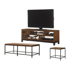 3 Piece Living Room Set with TV Stand, Coffee Table & End Table