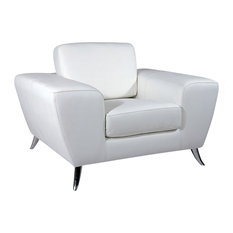 Julie Leather Match Chair, White