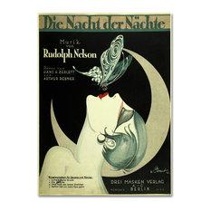 """Vintage Apple Collection 'Art Deco Music Sheet' Canvas Art, 35"""" x 47"""""""
