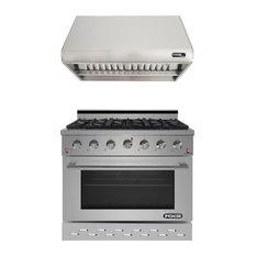 "NXR 36"" Pro Style Gas Range SC3611 and 36"" Under Cabinet Range Hood RH36301 Set"