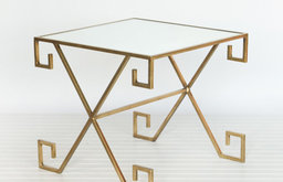 Athena Gold Leaf Greek Key Table