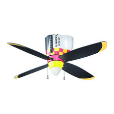 Kids sports themed ceiling fans houzz craftmade warbird 48 air power fan glass ceiling fans mozeypictures Gallery
