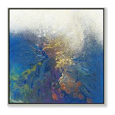 "Under the Wave III 30""x30"" Hand Embellished Giclee Print"