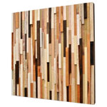 """Modern Textures - Rustic Wood Wall Art, 29""""x29"""", Vertical - Gorgeous organic wall art made from upcycled wood scraps. We left this piece in its most raw state by honoring the saw marks, bark, and """"imperfections"""" that made this wood unusable by the cabinetry shop we salvaged it from. We added a few pops of dark walnut stain for added drama."""