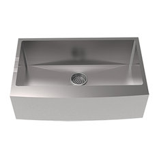 "Rivage 33""x21"" Stainless Steel, Single Basin, Farmhouse Kitchen Sink With Apron"