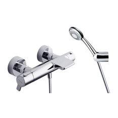 - Thermostatic bath-shower mixer with 5849 AS shower kit - Conjuntos de grifos para bañera y ducha