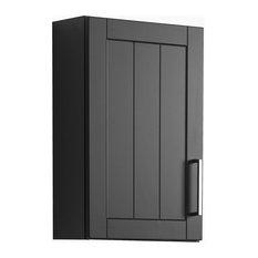 Barolo Bathroom Wall Cabinet, Matte Grey and Graphite Grey