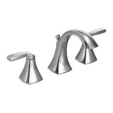 Moen   Moen Voss 2 Handle High Arc Bathroom Faucet, Chrome   Bathroom Sink