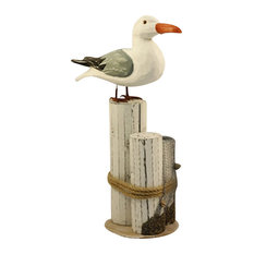 - Seagull on Piling - Decorative Objects and Figurines
