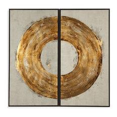Bassett Mirror Ring of Fire Wall Art in Metallic Gold Finish 7300-282EC
