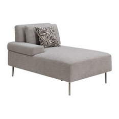 Furniture of America Sabi Contemporary Modular Left Chaise in Gray