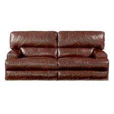 Catnapper Wembley Power Headrest Lay Flat Reclining Sofa Walnut