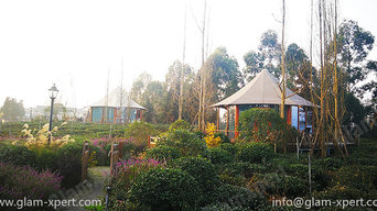 Luxury Tent Homes Set In Green Tea Garden