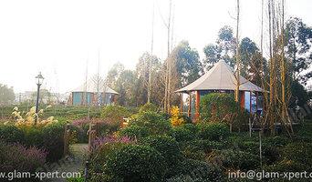 Luxury Tent Homes Set In Green Tea Garden