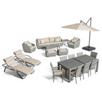 RST Brands - Cannes 20-Piece Outdoor Estate Set by RST Brands, Slate - Achieve a coordinated, multifunctional and stylish backyard design in one fell swoop with the Cannes. Looking to lounge pool side? A pair of cushioned chaises should do. How about host a dinner party alfresco? With a spacious dining table and seating for eight, this varied ensemble has you covered. You can also find literal cover under a 10-foot umbrella as you chat with friends or relax solo on the sofa set. The Cannes furniture is equipped with comfortable cushioning, and features a fashionable two-tone weaved look that is perfectly suited for patios of any style.