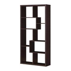 Spacious Bookcase Cappuccino Brown