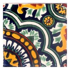 "4""x4"" Mexican Ceramic Handmade Tile #C077"