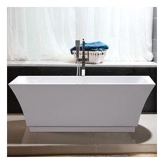 """Vanity Art Freestanding Acrylic Bathtub, 59""""x29.5""""x24"""""""