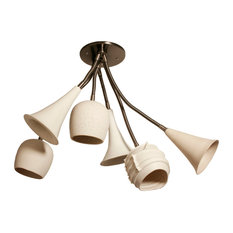 Ceramic chandeliers houzz lightexture claylight bouquet six shades chandeliers aloadofball Gallery