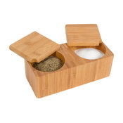 Bamboo Salt and Pepper Box Kitchen Accessory