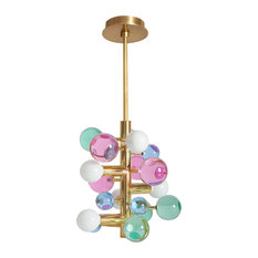 Globo Five-Light Chandelier, Jewel