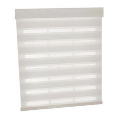 """Cordless Celestial Sheer Double Layered Shade, White, 23""""x72"""""""