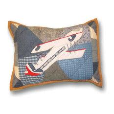 "Patch Magic - Airplane Crib Toss Pillow 16""X12"" - Crib Accessories"