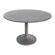 Modrest Wagner Modern Gray Concrete Round Dining Table