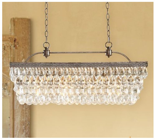 transitional teardrop Crystal Chandelier