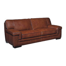 Features: 8 Way Hand Tied. Clear All · 1st Avenue   Simone Leather Sofa,  Chestnut   Sofas
