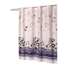 home fashion stores musical notes shower curtain shower curtains - Musical Shower Curtains