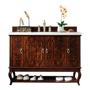 "Palm Beach 48"" Vanity, Dark Amber, Without Top"