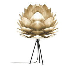 """Silvia 31"""" H Table Lamp, Black/Brushed Brass"""
