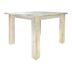 montana woodworks homestead collection square 4 post dining table ready to finish dining - Square Dining Table
