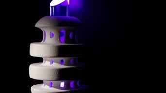 Sculptures lumineuses béton