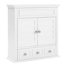 Crosley - Lydia Wall Cabinet, White - Medicine Cabinets