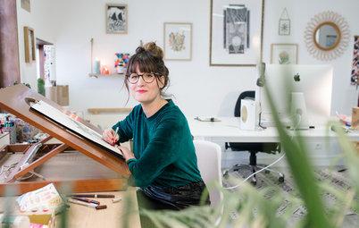 Atelier d'artiste : Chez Émilie, créatrice de papier peint