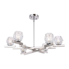 Woodbridge Lighting 18516 Jewel 6-Light Chandelier, Hexagonal Crystal
