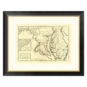 State Of Georgia 1795 Framed Digital Print By Mathew Carey 32 X23 Traditional Prints And Posters By Global Gallery