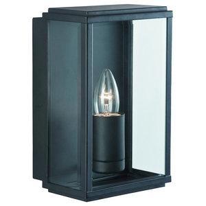 Outdoor Rectangular Box Wall Light IP44, Black