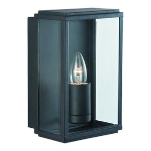 Outdoor Rectangular Box Wall Light IP44, Black