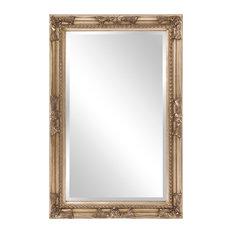 Howard Elliott Queen Ann Rectangular Mirror, Silver