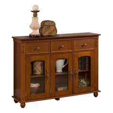 Wooden Accent Standard Cabinet With 3 Drawer