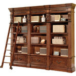 Parker House - Parker House Grand Manor Granada 3-Piece Museum Bookcase Library Wall, #1 - The grand manor Style bookcases boast both intricate beauty and classic Style. Italian Villa Style bookcase with antique vintage walnut finish will make a great addition to any room needing extra storage and displaying space.