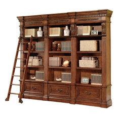 Parker House Grand Manor Granada 3-Piece Museum Bookcase Library Wall #1