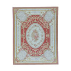 Pasargad Aubusson Hand-Woven New Zealand Wool Area Rug, 11