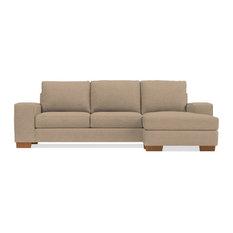 Melrose Reversible Chaise Sleeper Sofa, Beige, Deluxe Innerspring Mattress