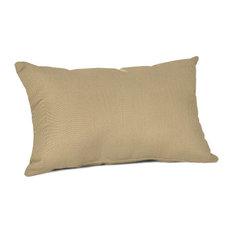 Sunbrella Lumbar Pillow, Canvas Heather Beige
