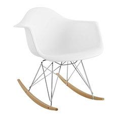 Rocker Lounge Chair, White